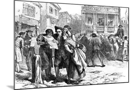 Bostonians Reading the Stamp Act, 1765--Mounted Giclee Print