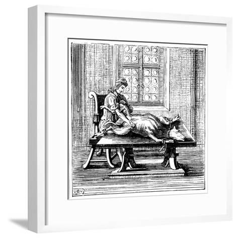 Animal-To-Human Blood Transfusion, 1679--Framed Art Print