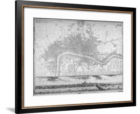 Map of Westminster, the City of London, Southwark, the Thames and Surrounding Areas, 1710--Framed Art Print