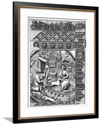 The Mystical Chase of the Unicorn, Which Has Taken Refuge in the Lap of the Virgin, 15th Century--Framed Art Print