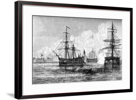 The Attack on Sullivan's Island, South Carolina, 1776--Framed Art Print