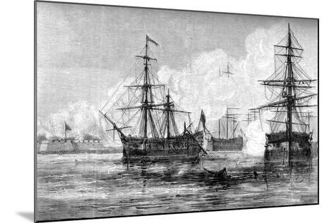 The Attack on Sullivan's Island, South Carolina, 1776--Mounted Giclee Print