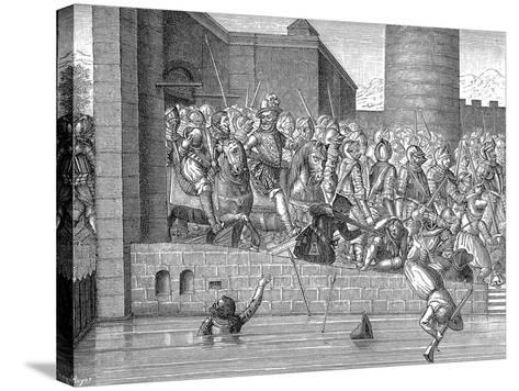 Henry IV of France Entering Paris, 22 March 1594--Stretched Canvas Print