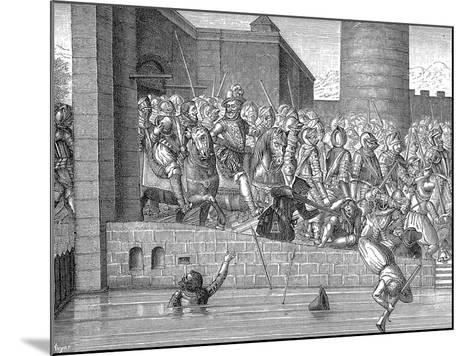 Henry IV of France Entering Paris, 22 March 1594--Mounted Giclee Print