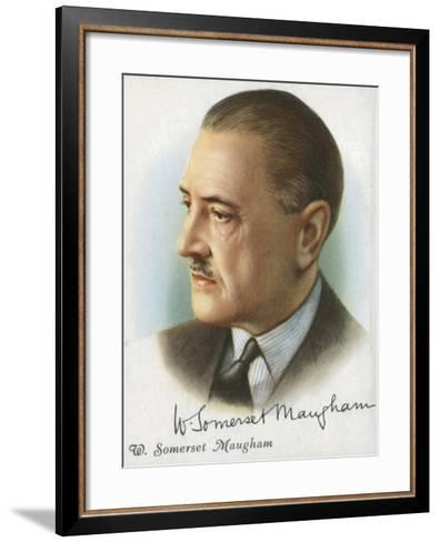 William Somerset Maugham, British Author of Novels, Plays and Short Stories, 1927-Somerset Maugham-Framed Art Print