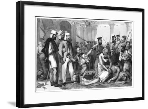 The Times Correspondent Looking on at the Sacking of the Kaiser Bagh, 1858--Framed Art Print