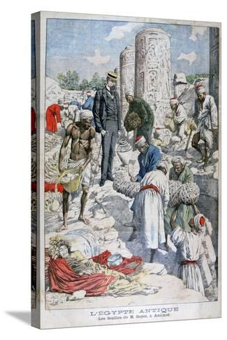 The Excavations of Antinopolis, Egypt, by Albert Gayet, 1904--Stretched Canvas Print