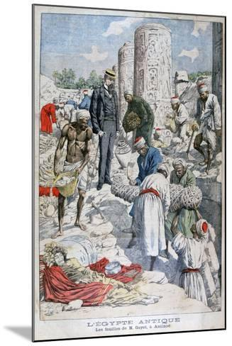 The Excavations of Antinopolis, Egypt, by Albert Gayet, 1904--Mounted Giclee Print