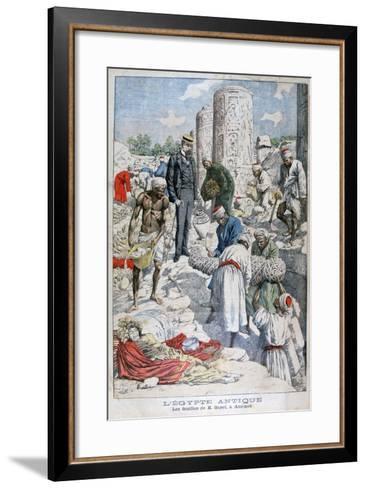 The Excavations of Antinopolis, Egypt, by Albert Gayet, 1904--Framed Art Print
