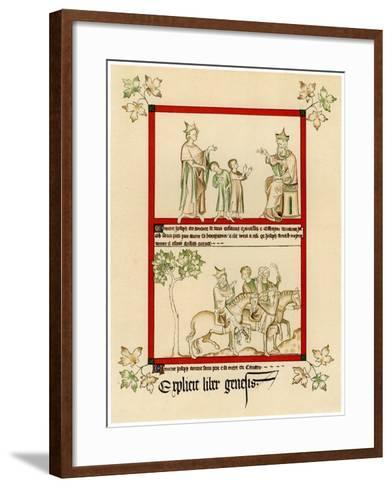 Scenes from the Life of Joseph, C1310-1320--Framed Art Print