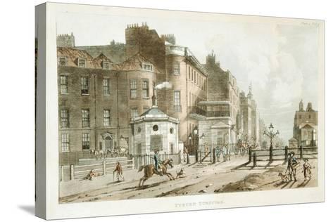 Tyburn Turnpike, Paddington, London, 1813--Stretched Canvas Print