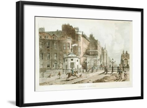 Tyburn Turnpike, Paddington, London, 1813--Framed Art Print