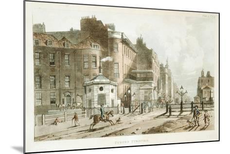 Tyburn Turnpike, Paddington, London, 1813--Mounted Giclee Print