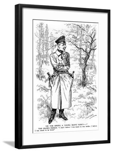 In the Spring a Young Man's Fancy..., First World War--Framed Art Print