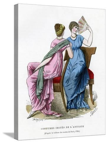 Fashions That Imitate the Costume of Antiquity, 1798 (1882-188)- Smeeton-Tilly-Stretched Canvas Print