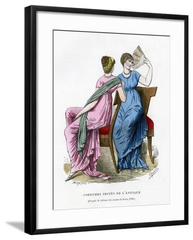 Fashions That Imitate the Costume of Antiquity, 1798 (1882-188)- Smeeton-Tilly-Framed Art Print