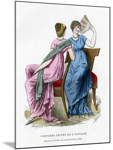 Fashions That Imitate the Costume of Antiquity, 1798 (1882-188)- Smeeton-Tilly-Mounted Giclee Print