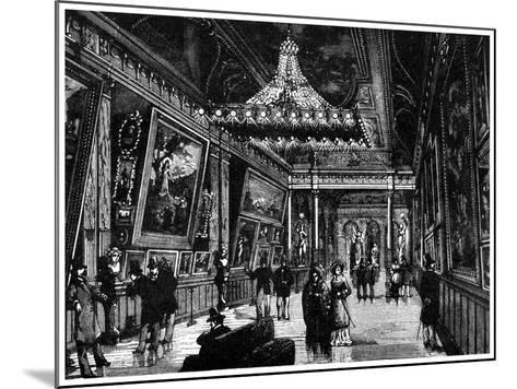 Edison's Incandescent Lamps Light Up a New York Art Gallery, 1882--Mounted Giclee Print