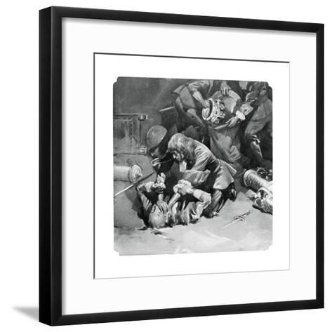 Thomas Blood Attempting to Steal the Crown Jewels from the Tower of London in 1671--Framed Art Print
