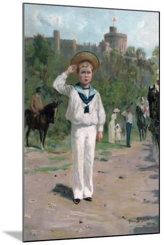 Edward, Prince of Wales, Saluting the Colours, 1902--Mounted Giclee Print