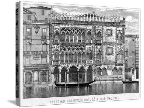 The Ca' D'Oro, Venice, Italy, C19th Century--Stretched Canvas Print