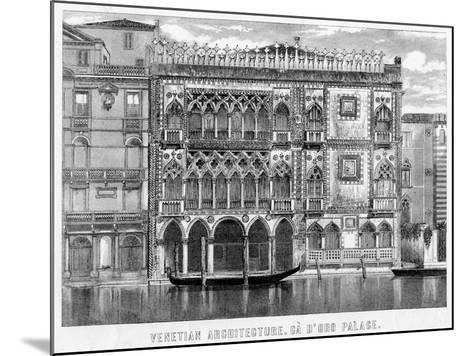 The Ca' D'Oro, Venice, Italy, C19th Century--Mounted Giclee Print