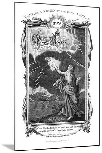 Ezekiel's Vision of a Chariot in the Sky and a Hand in the Clouds Holding Out a Book to Him, 1804--Mounted Giclee Print