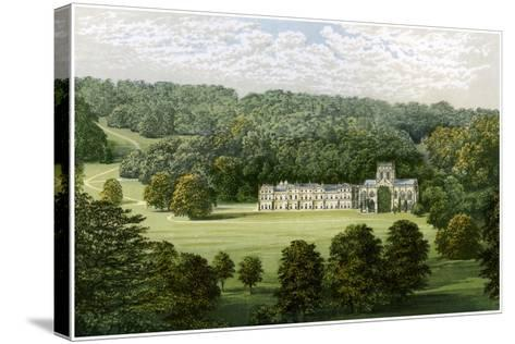 Milton Abbey, Dorset, Home of Baron Hambro, C1880-Benjamin Fawcett-Stretched Canvas Print