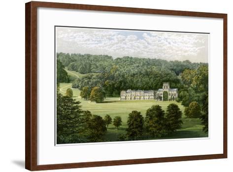 Milton Abbey, Dorset, Home of Baron Hambro, C1880-Benjamin Fawcett-Framed Art Print