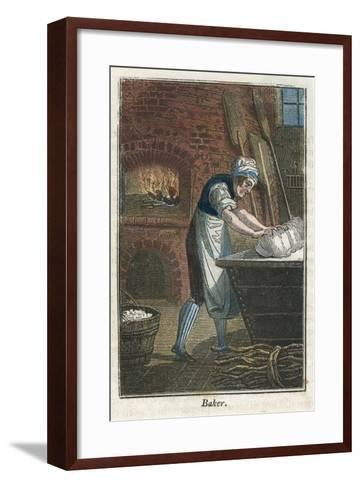 The Baker Kneading Dough on the Lid of a Flour Bin, 1823--Framed Art Print