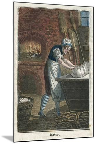 The Baker Kneading Dough on the Lid of a Flour Bin, 1823--Mounted Giclee Print