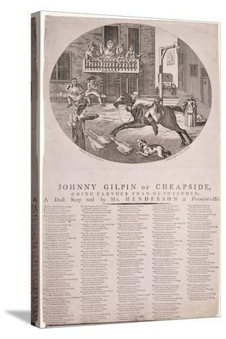 John Gilpin in Edmonton, London, 1785--Stretched Canvas Print