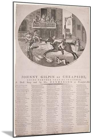 John Gilpin in Edmonton, London, 1785--Mounted Giclee Print