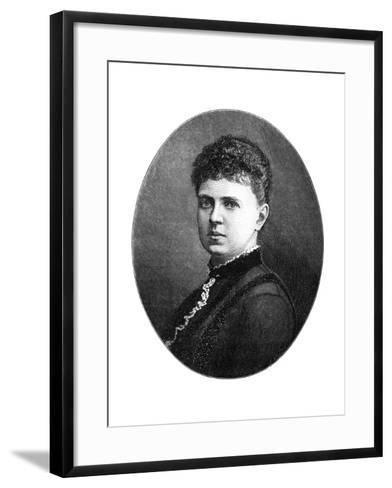 Maria Alexandrovna of Russia, Duchess of Edinburgh, 1900-W&d Downey-Framed Art Print