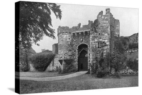 Gateway to Beaumaris Castle, Anglesey, Wales, 1924-1926--Stretched Canvas Print