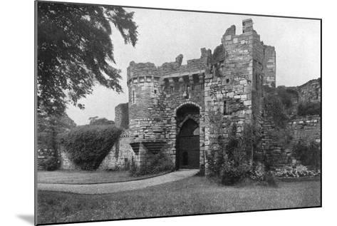 Gateway to Beaumaris Castle, Anglesey, Wales, 1924-1926--Mounted Giclee Print