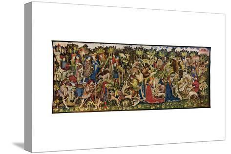 The Chatsworth Hunting Tapestries, Second of the Series, 1930-WG Thomas-Stretched Canvas Print