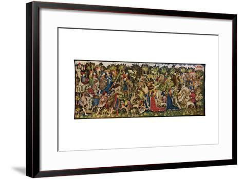 The Chatsworth Hunting Tapestries, Second of the Series, 1930-WG Thomas-Framed Art Print