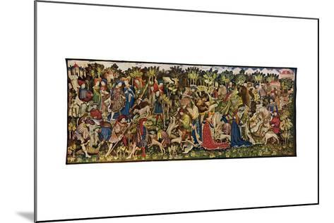 The Chatsworth Hunting Tapestries, Second of the Series, 1930-WG Thomas-Mounted Giclee Print