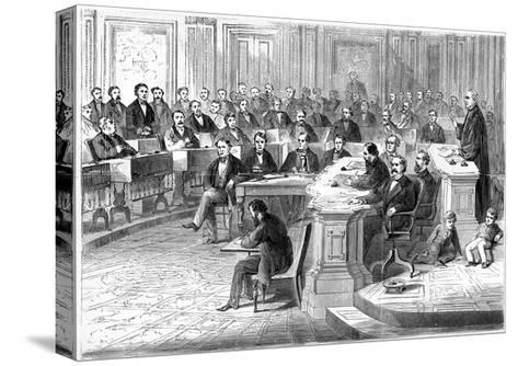 The Impeachment of Andrew Johnson, 5 March 1868--Stretched Canvas Print