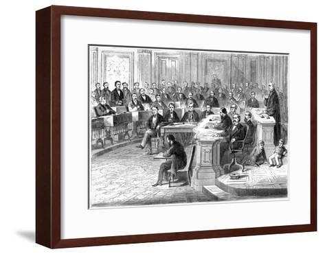 The Impeachment of Andrew Johnson, 5 March 1868--Framed Art Print
