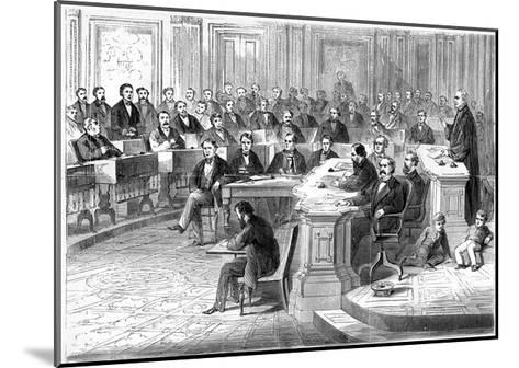 The Impeachment of Andrew Johnson, 5 March 1868--Mounted Giclee Print