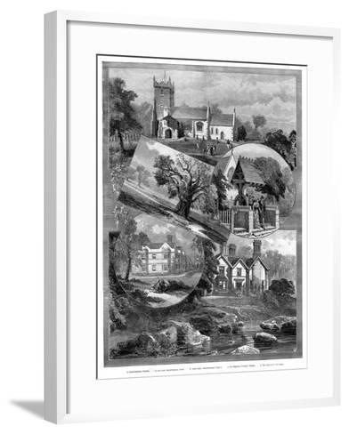Views of Sandringham, Norfolk, 1887--Framed Art Print