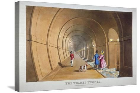 Interior View of the Thames Tunnel, London, 1830--Stretched Canvas Print