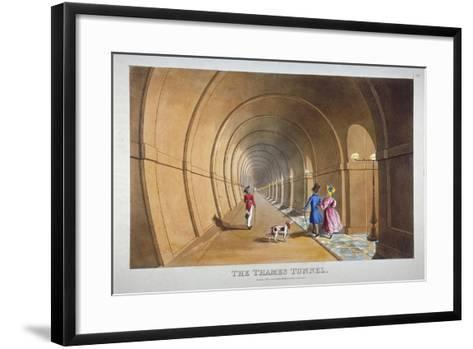 Interior View of the Thames Tunnel, London, 1830--Framed Art Print