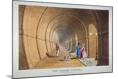 Interior View of the Thames Tunnel, London, 1830--Mounted Giclee Print