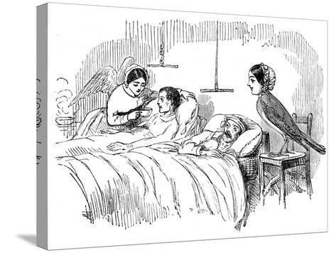 Florence Nightingale Watching a Nurse at Work, 1854--Stretched Canvas Print