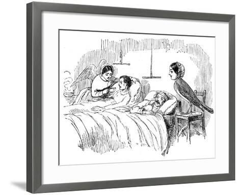 Florence Nightingale Watching a Nurse at Work, 1854--Framed Art Print