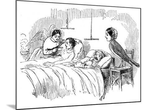 Florence Nightingale Watching a Nurse at Work, 1854--Mounted Giclee Print