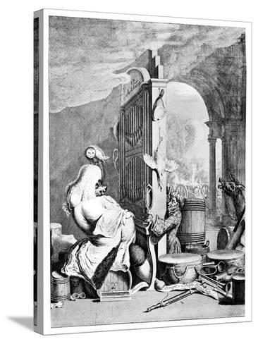 The Charming Brute, (A Satire on Hande), 1754--Stretched Canvas Print